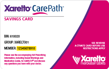 Xarelto coupon card 2018